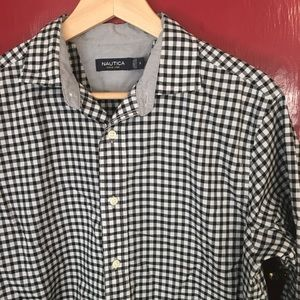 NAUTICAL Gingham Button Down Shirt